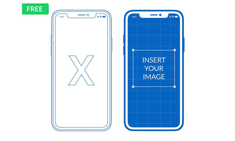 darmowy mockup doprezentacji powerpoint keynote iphone x
