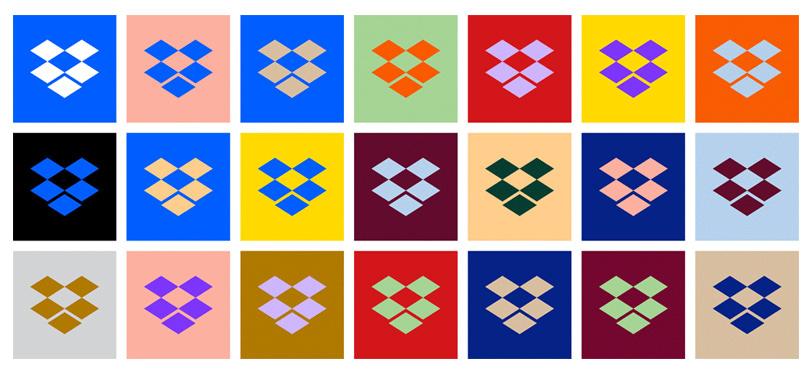 dropbox logo kolor warianty alternatywne