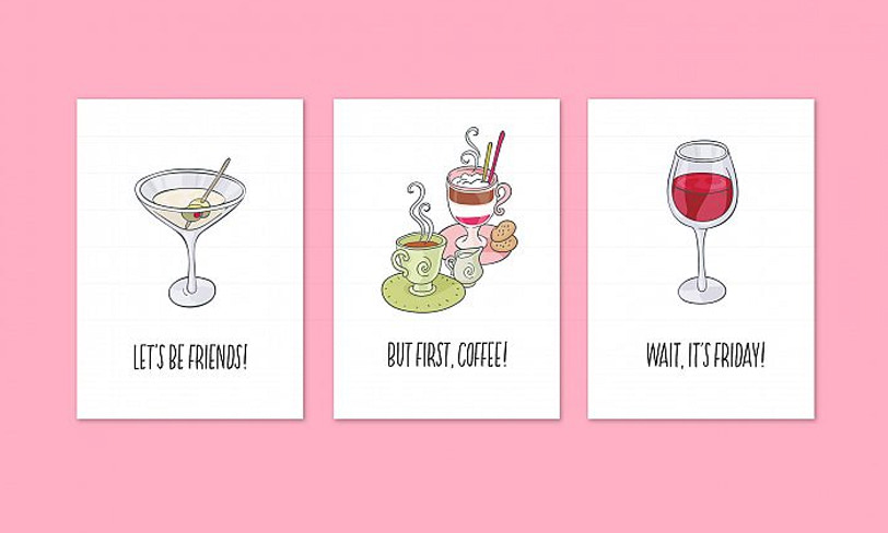 darmowe ilustracje drinków