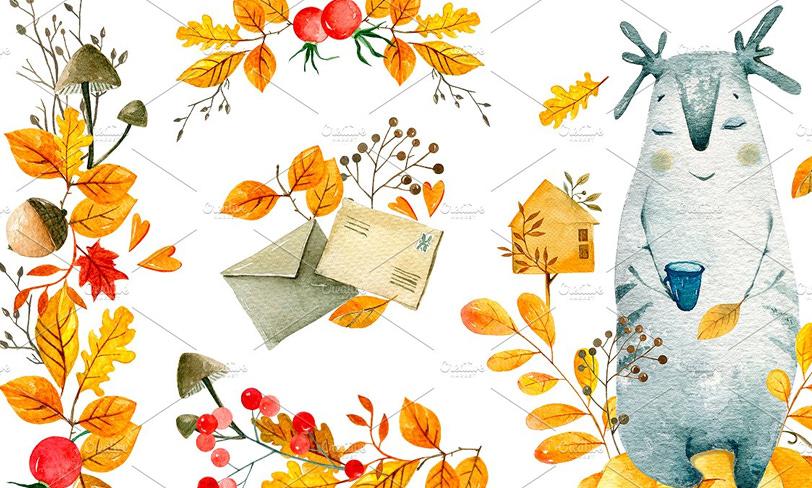 darmowe grafiki jesień