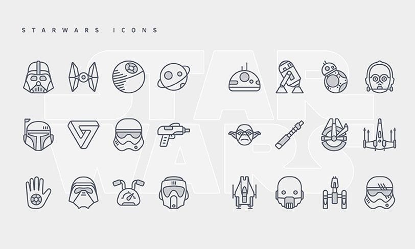 darmowe ikony star wars