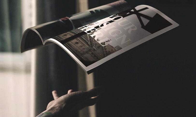 darmowy mockup magazynu