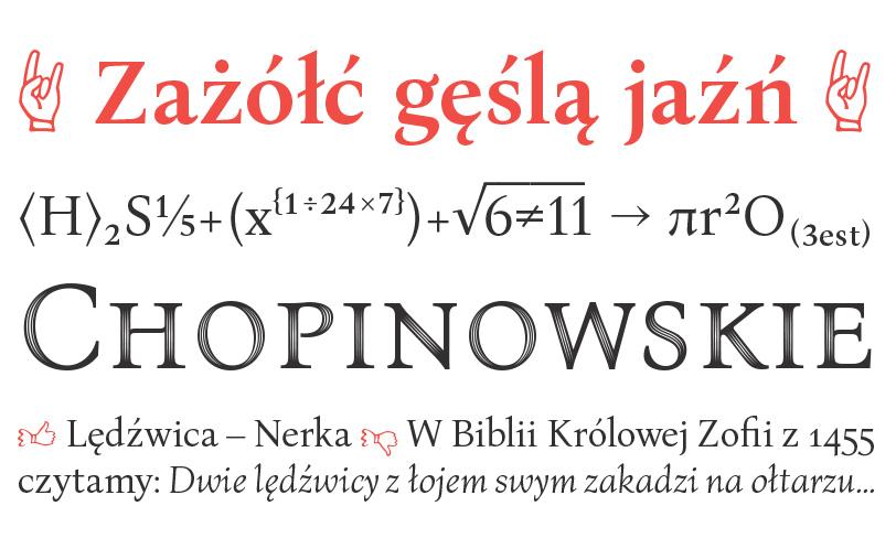 różne wariacje krojów bona nova title sforza