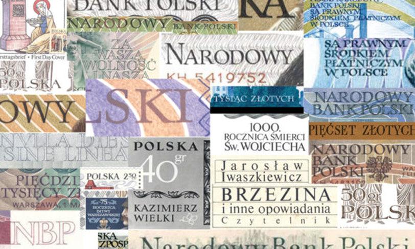 moodboard ztypografią Andrzeja Heidricha