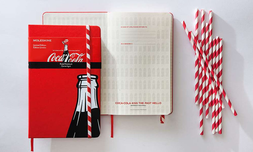 notes moleskine cocacola