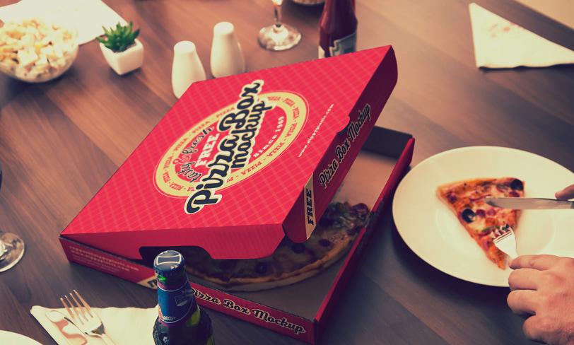 darmowy mockup pudełko pizzy