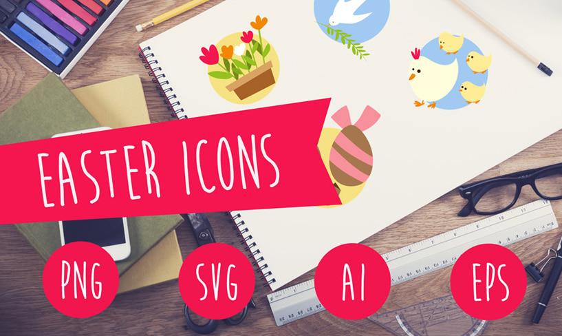 zestaw darmowych ikon wielkanoc