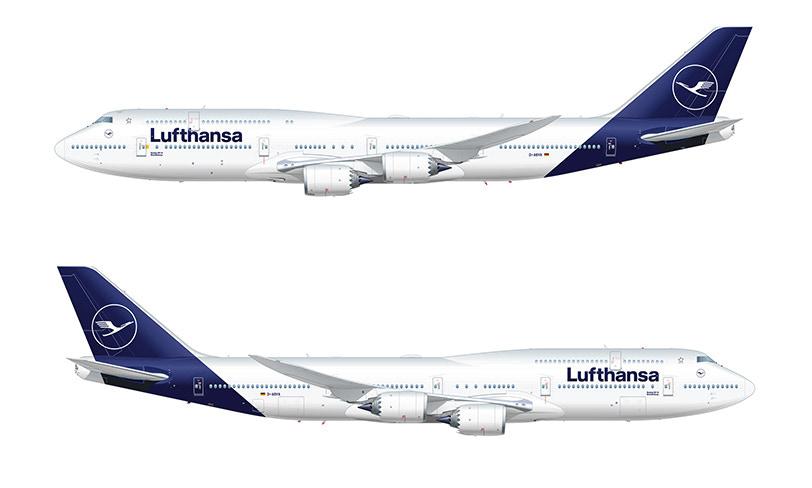 nowe malowanie samolotów lufthansy