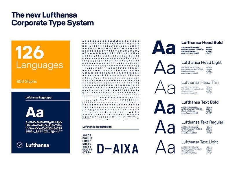 typografia lufthansa