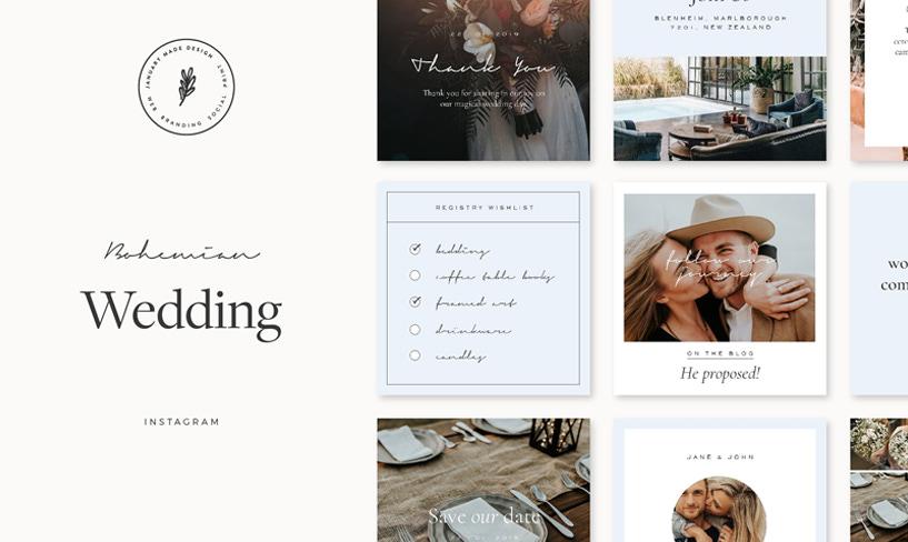 darmowe grafiki ślubne instagram