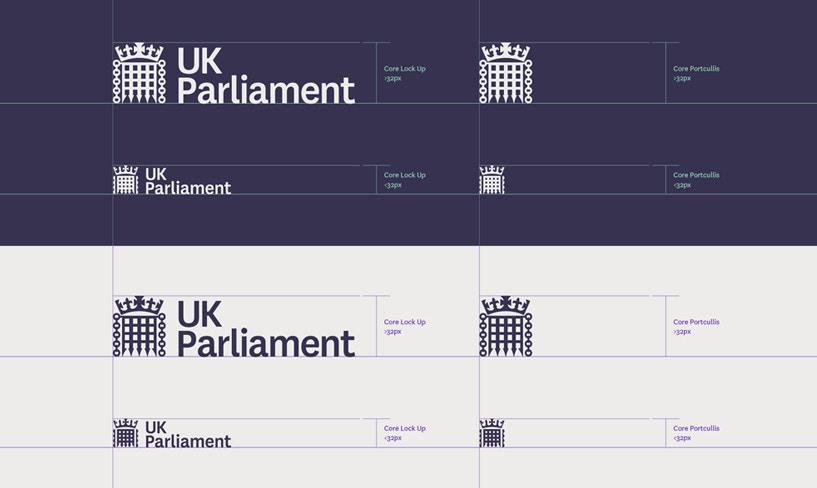 warianty logo parlamentu uk