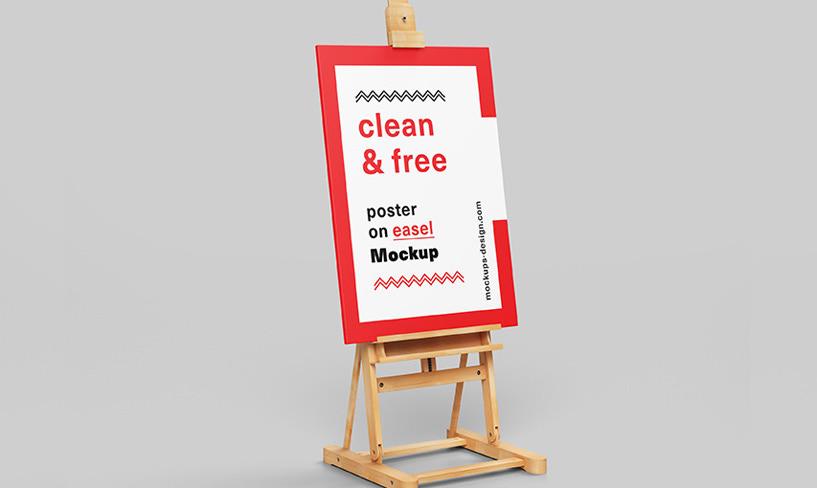 darmowy mockup plakatu
