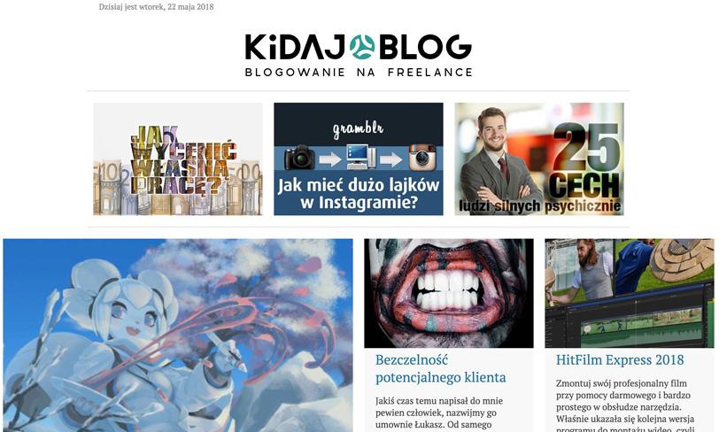 kidaj blog - blogowanie nafreelance