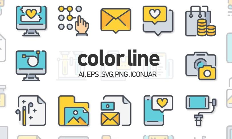darmowe ikony color line