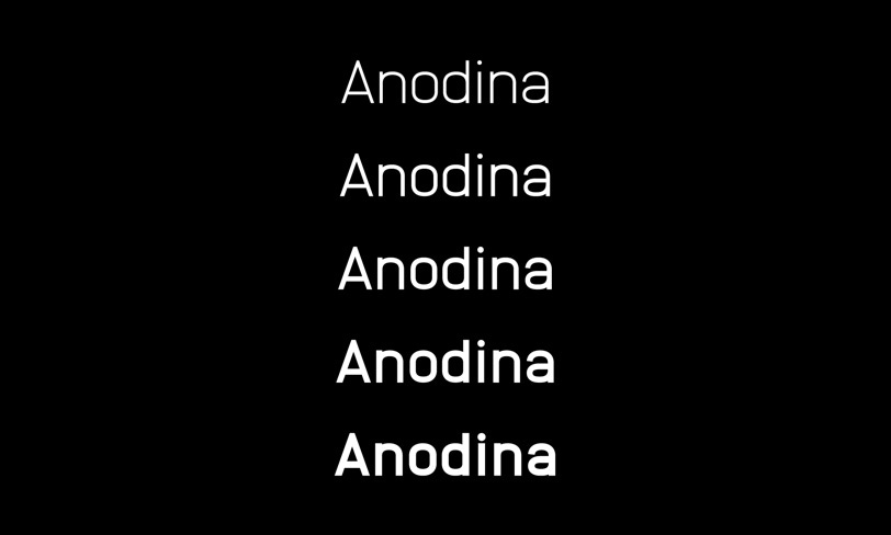 darmowy font anodina
