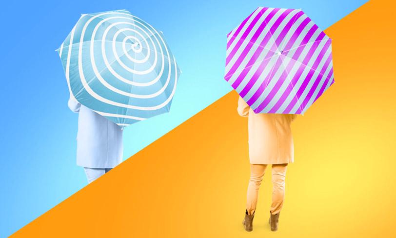 mockup parasolki