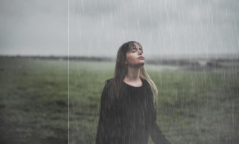 nakładka nazdjęcie deszcz