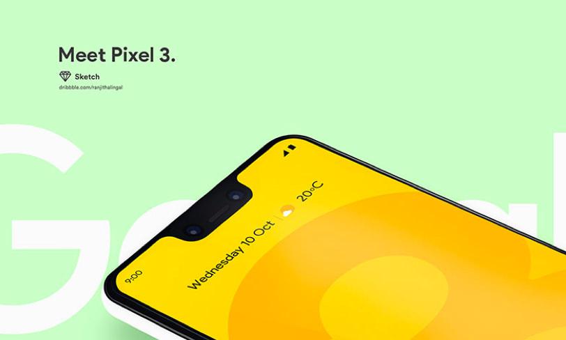 pixel 3 darmowy mockup