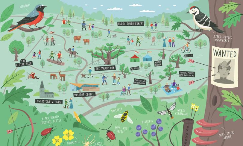 las sherwood mapa dla dzieci