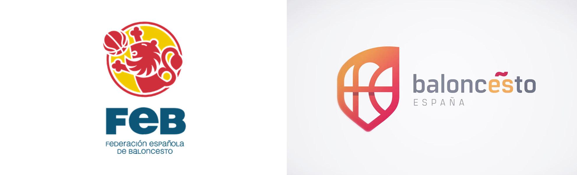 nowe logo Federación Española de Baloncesto (FEB)
