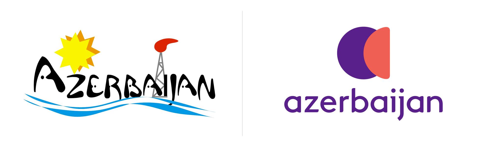 Nowe istare logo Azerbejdżanu