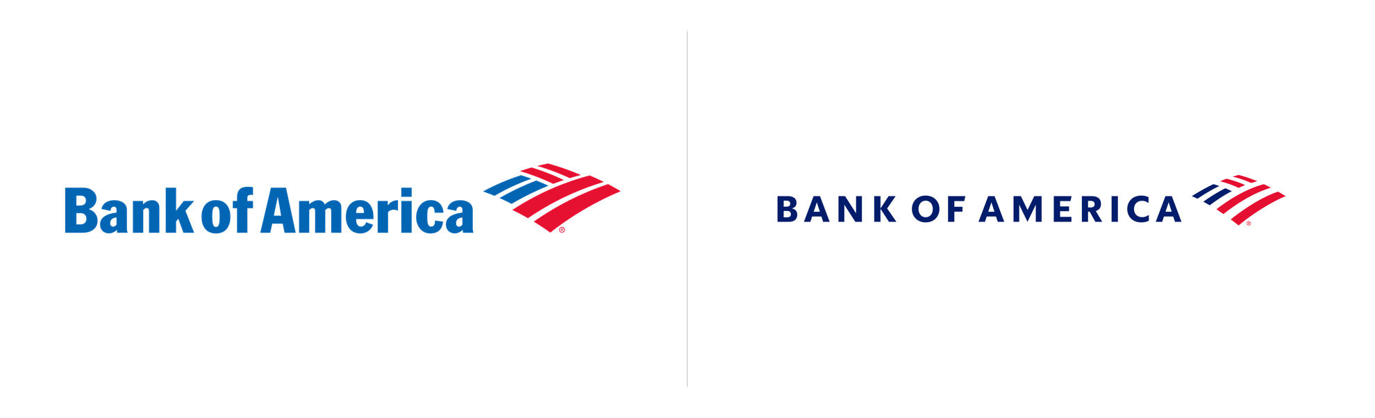 nowe i stare logo bank of america