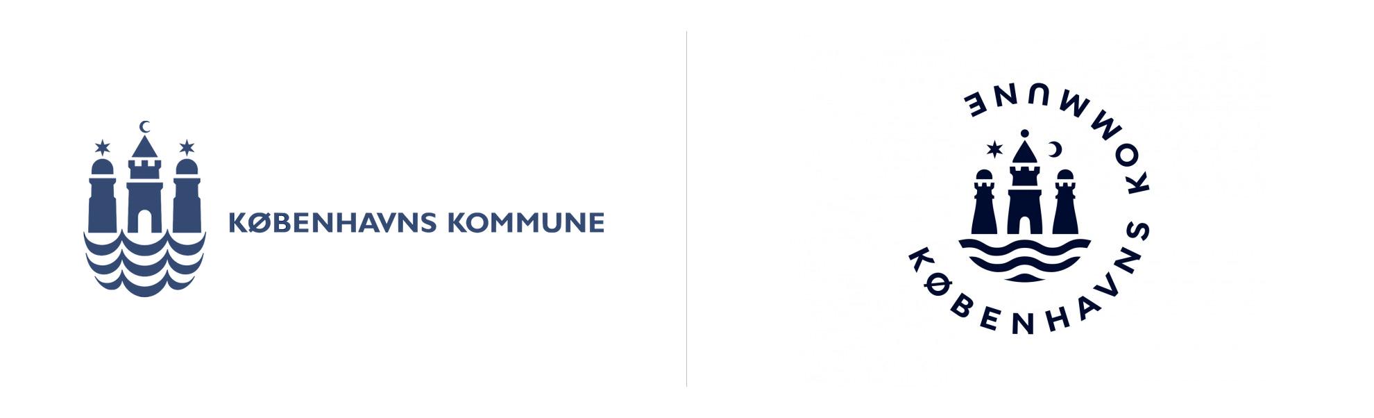Kopenhaga ijej nowe logo zpółksiężycem