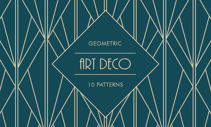 darmowe patterny art deco