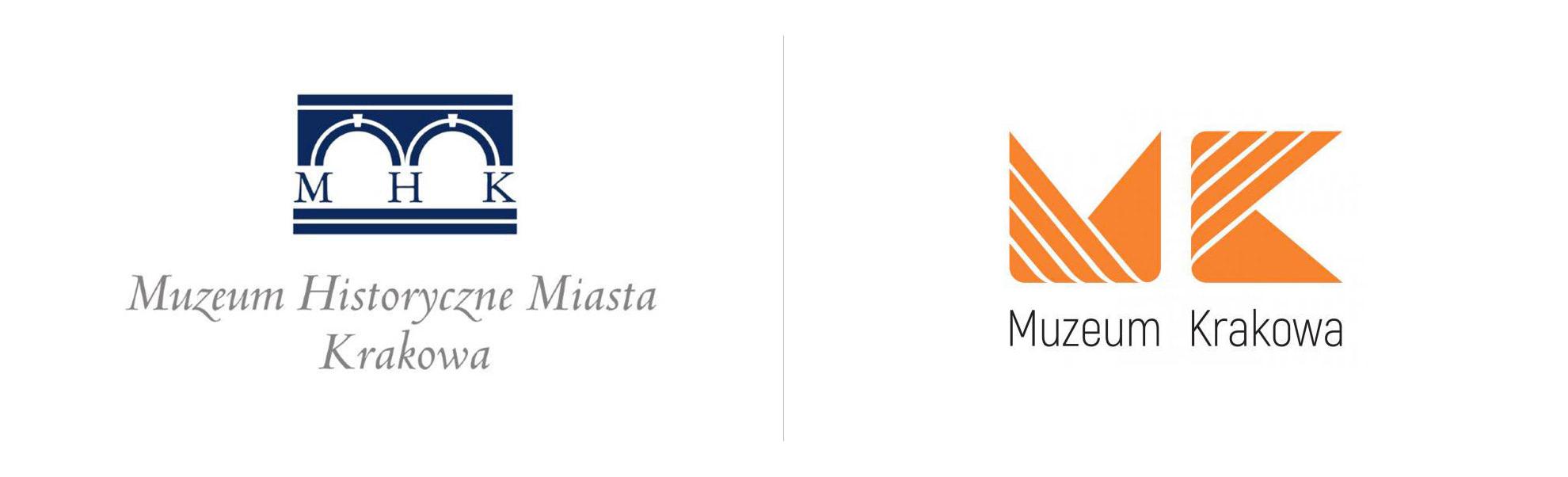nowe istare logo muzeum krakowa