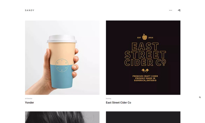 minimalistyczny szablon portfolio dla bloga