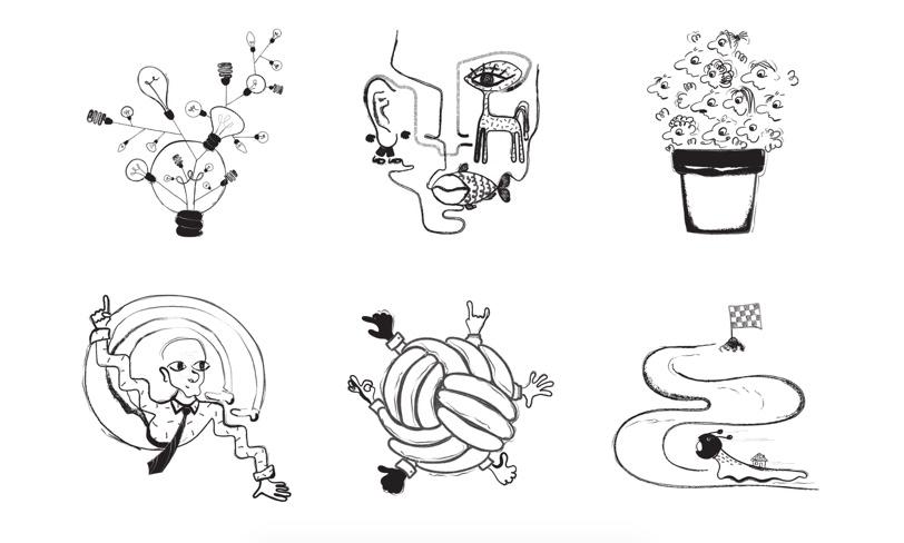 absurd - ilustracje naTwójlanding page