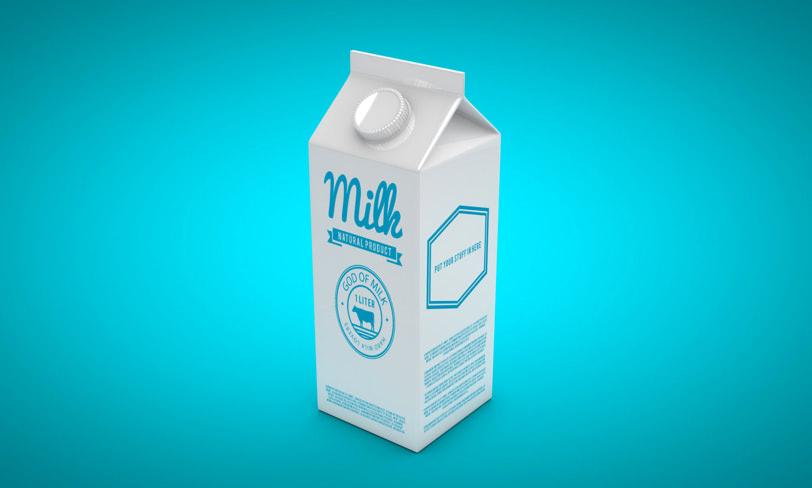 mockup kartonu mleka