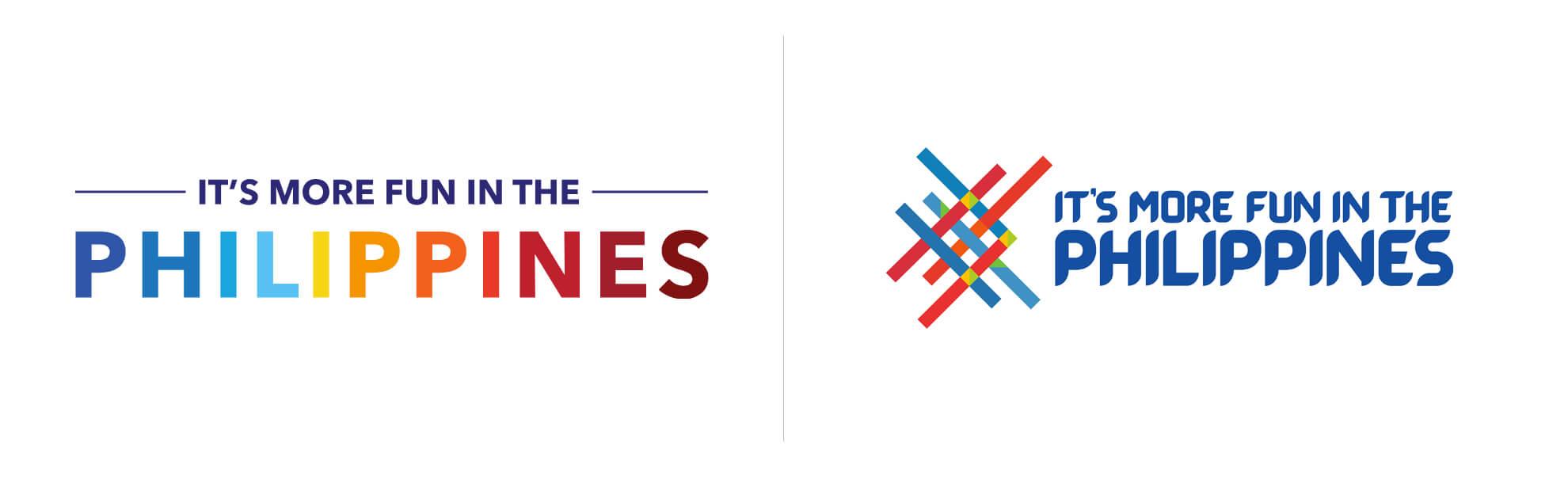 Stare inowe logo turystyczne filipin