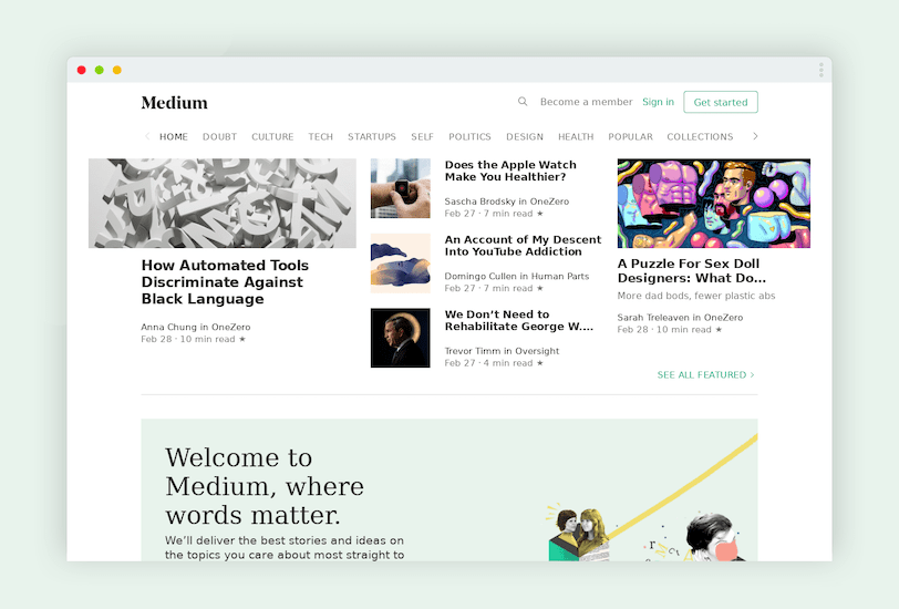 Medium.com platforma blogowa dla profesjonalistów