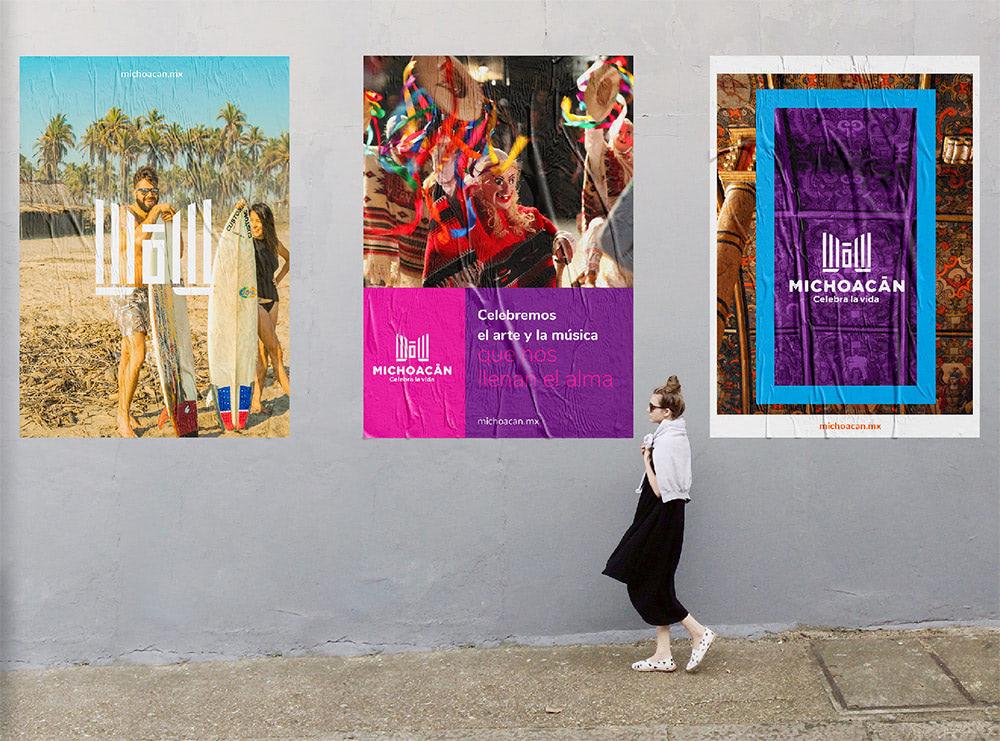 Michoacan przykład plakatów