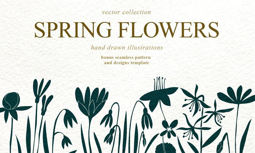 wiosenne kwiaty – darmowe ilustracje