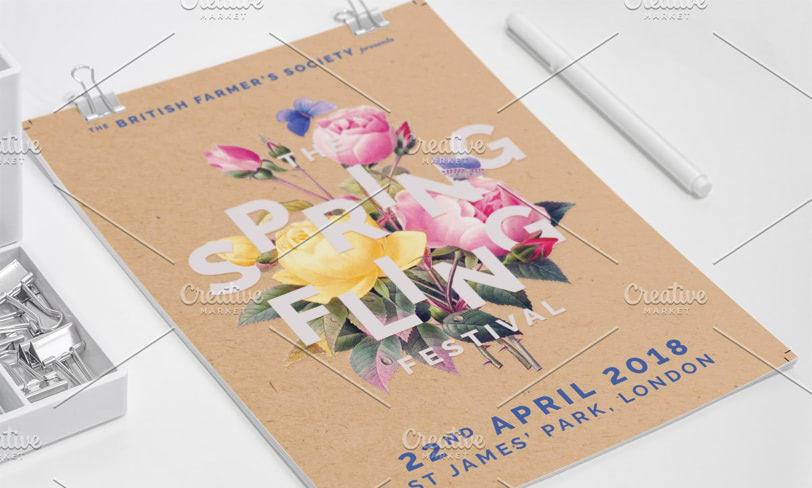 darmowy plakat wiosenny