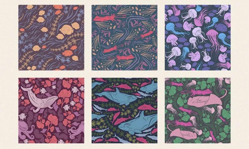 darmowe patterny otematyce morskiej