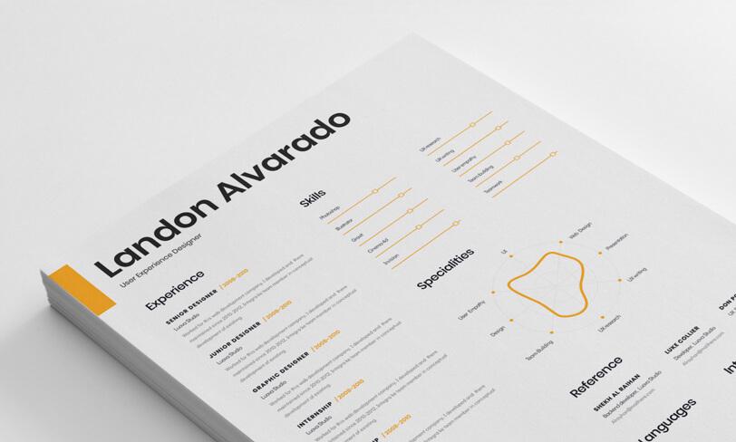 darmowy szablon CV dla grafika