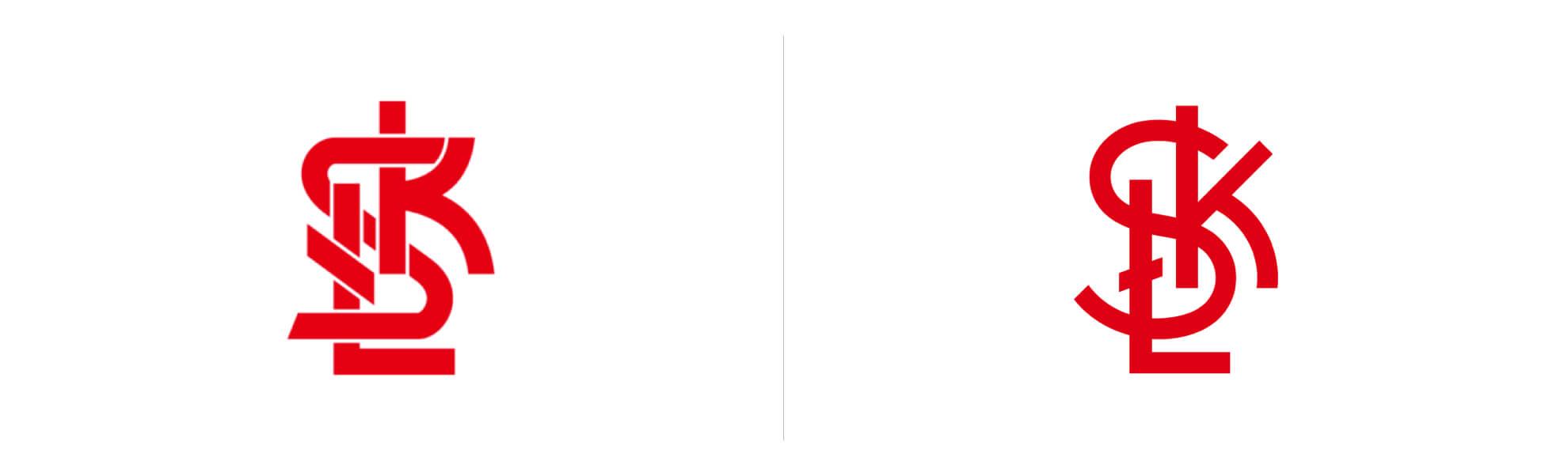 ŁKS znowym logo