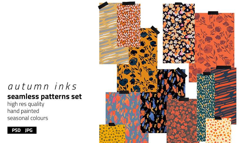 darmowy zestaw jesiennych patternów