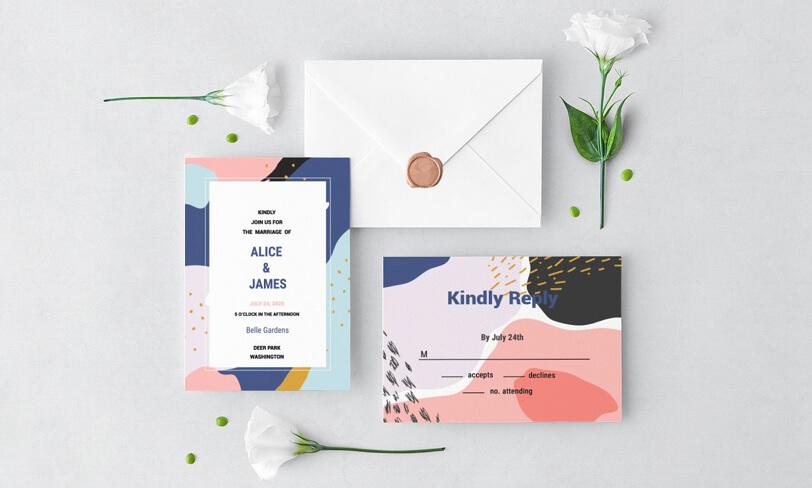 darmowy zestaw zaproszeń ślubnych