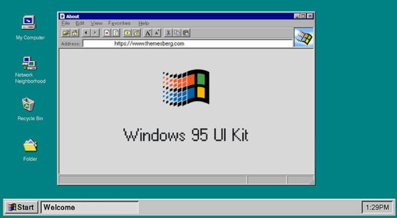 darmowy ui kit windows 95
