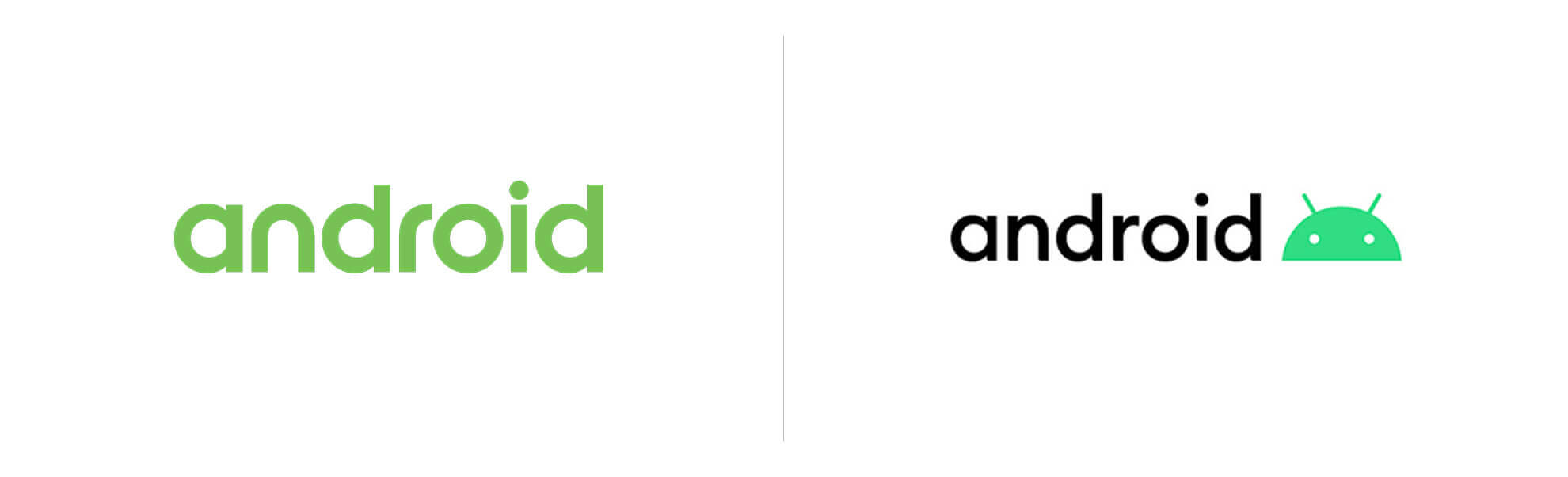Nowe istare logo Android