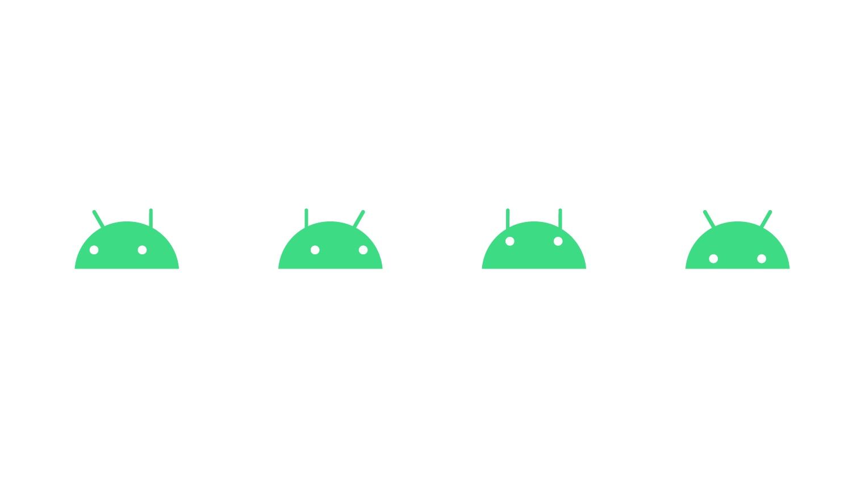android różne miny logo robota