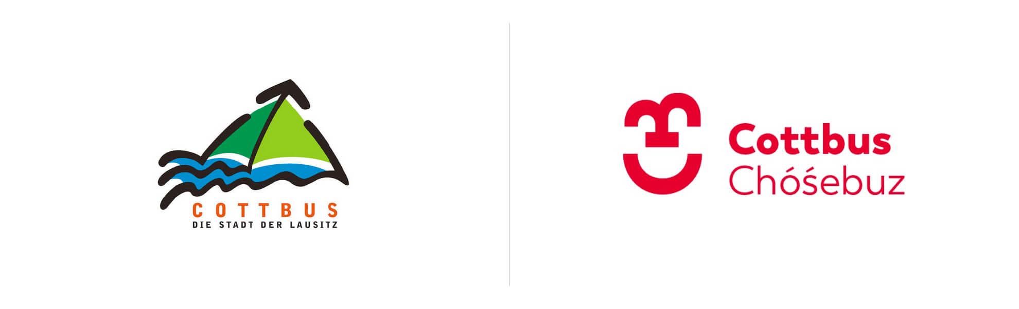 Cottbus nowe istare logo
