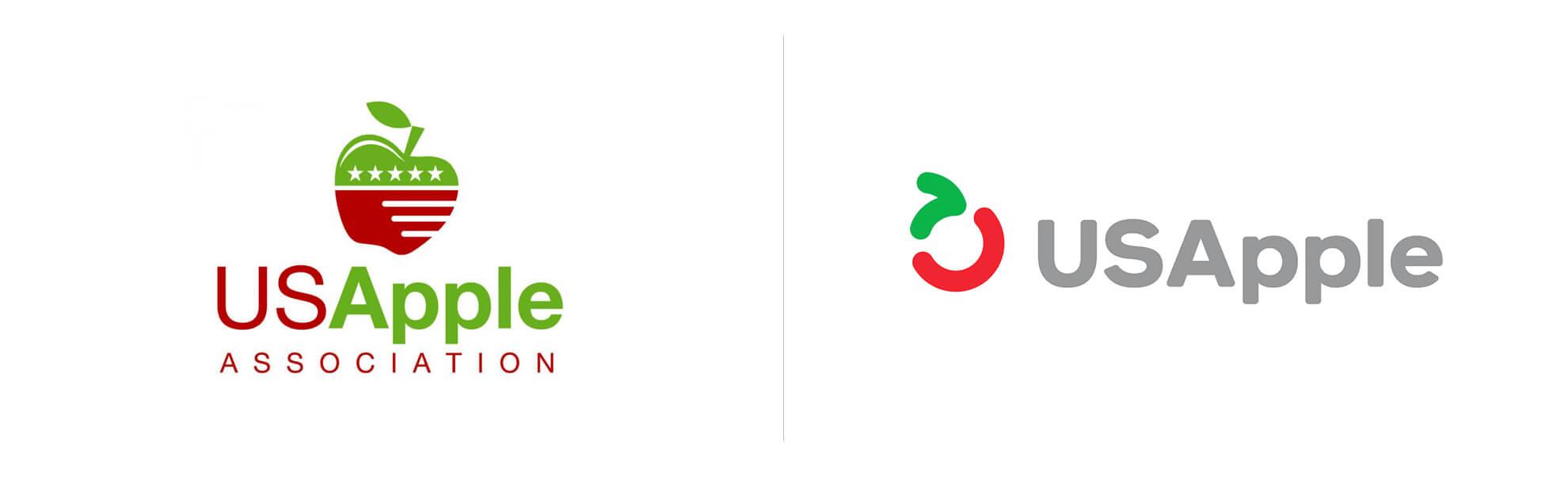 USApple nowe istare logo