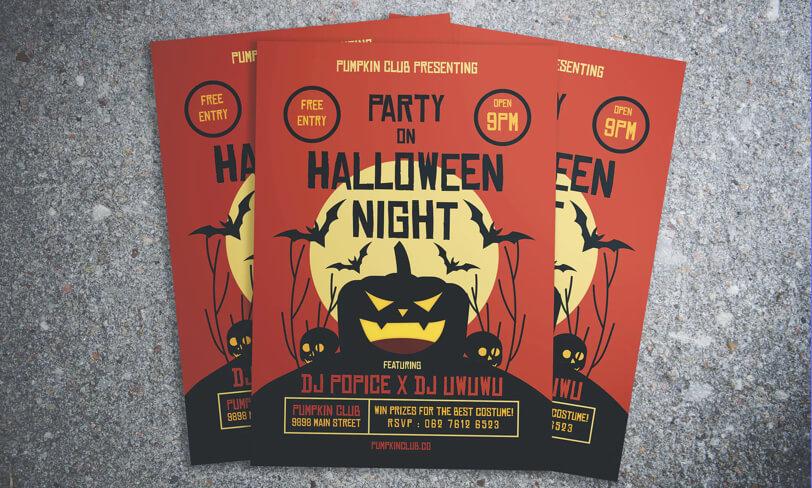 darmowy szablon plakatu halloween