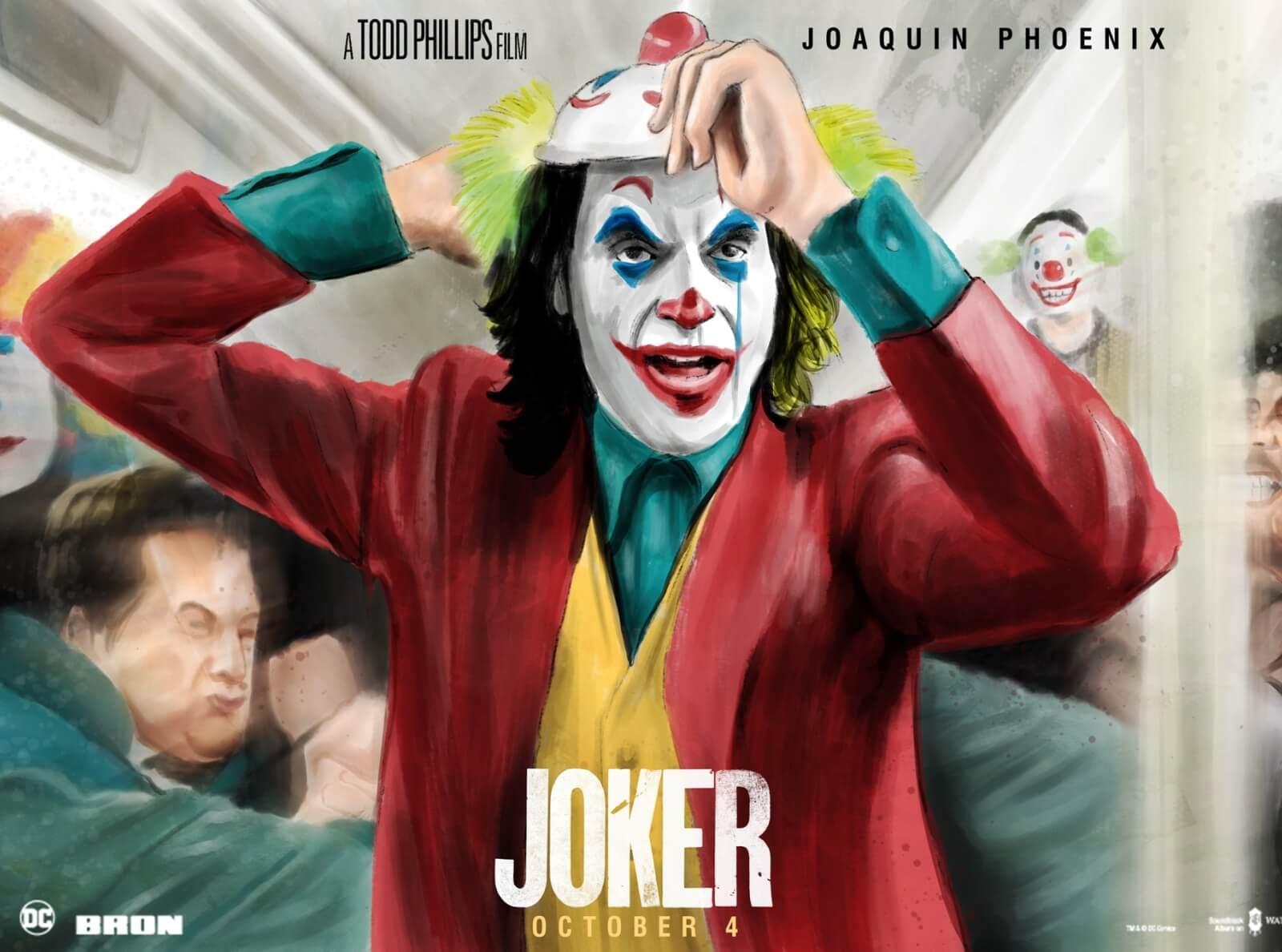 The Commas – Joker- Watercolor Alternative Movie Poster