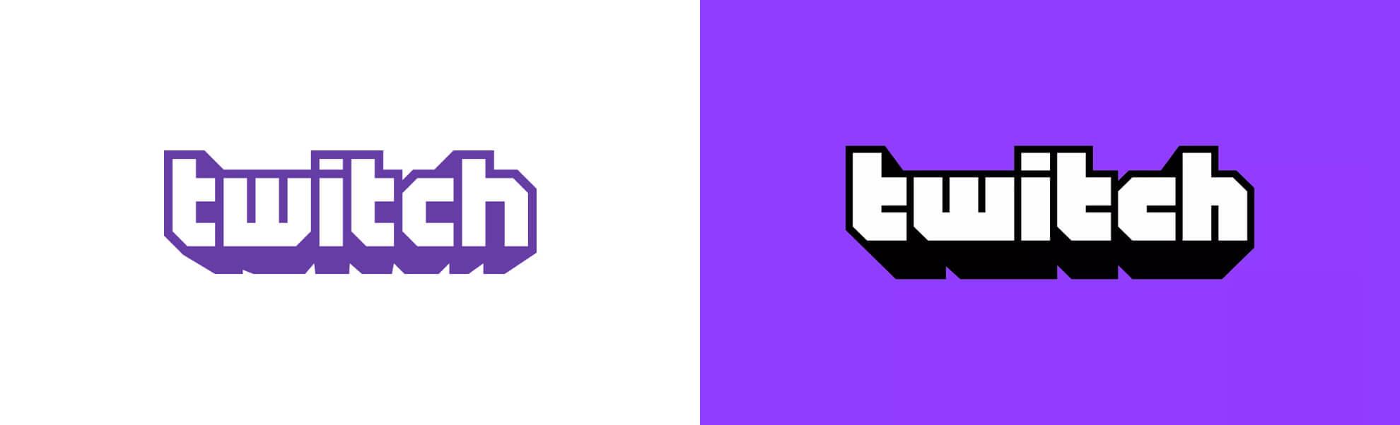 Stare inowe logo platformy Twitch